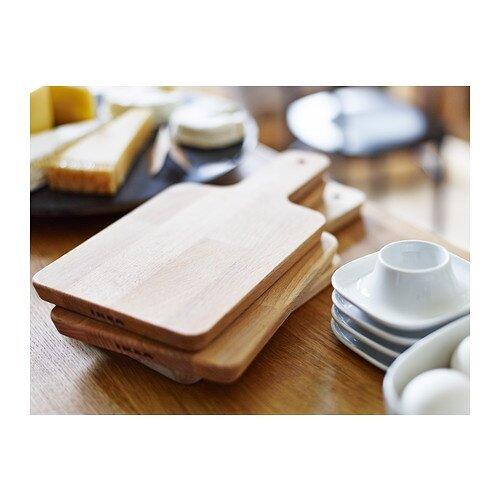 Ikea Multi Purpose Solid Wood Food Serving Tray Chopping Board 30x15 Cm