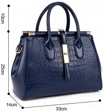 ccec84a26e86 2017 Crocodile Women Bag Big Luxury Elegant Top Handle Bags Brand Women  Designer Handbags Alligator Genuine Leather Female Bag