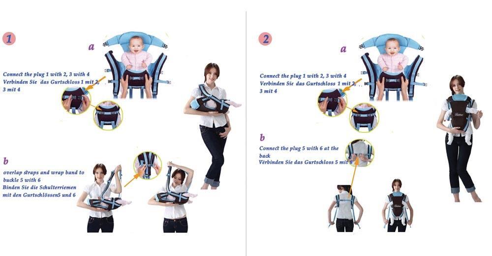 0c149618fcdd Bethbear Multifunctional Ventilate Adjustable Buckle Mesh Wrap Baby Carrier  Backpack - intl