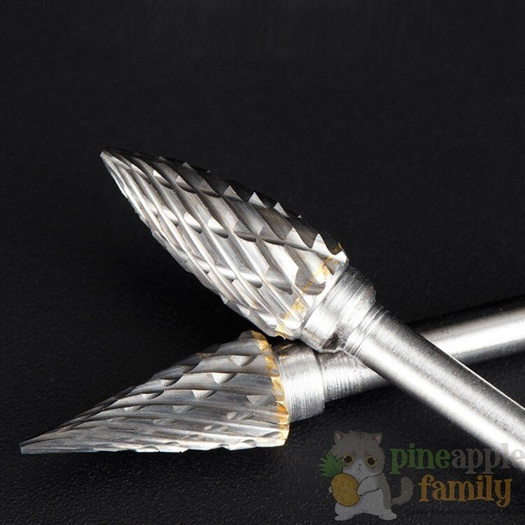 Pineapple Family 10 PCS Solid Carbide Burrs For Dremel Rotary Tool Drill  Die Grinder Carving Bit