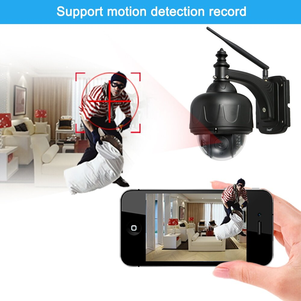 Finemall EasyN H 264 HD 960P Wireless WiFi PTZ IP Camera Outdoor Waterproof  Support P2P for Android/iOS APP Browser View Network Surveillance CCTV