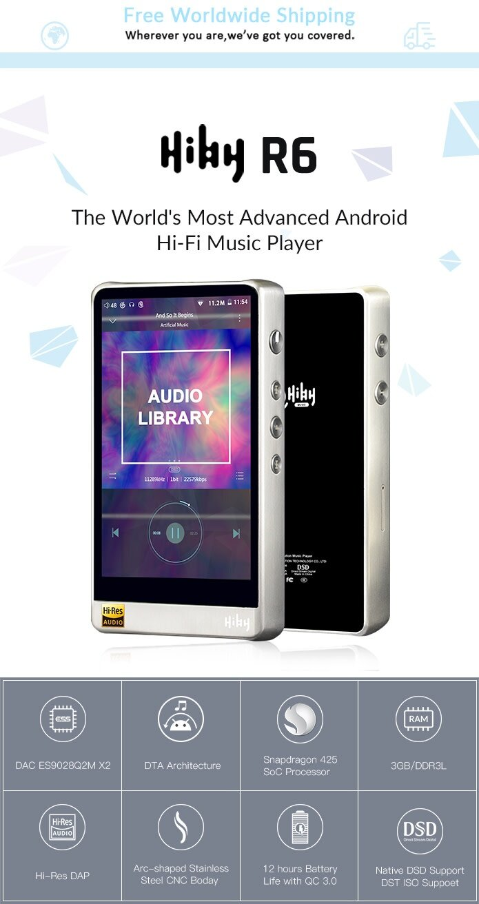 HiBy R6: Worlds Most Advanced Android Hi-Fi Player