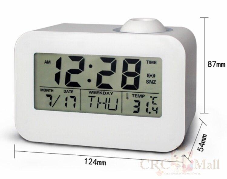 Clarinex digital alarm clock led with Lcd projector