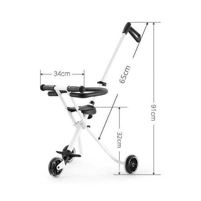 kids magic stroller 3 flashing wheels foldable trolley bike with safety fence guard rail singapore