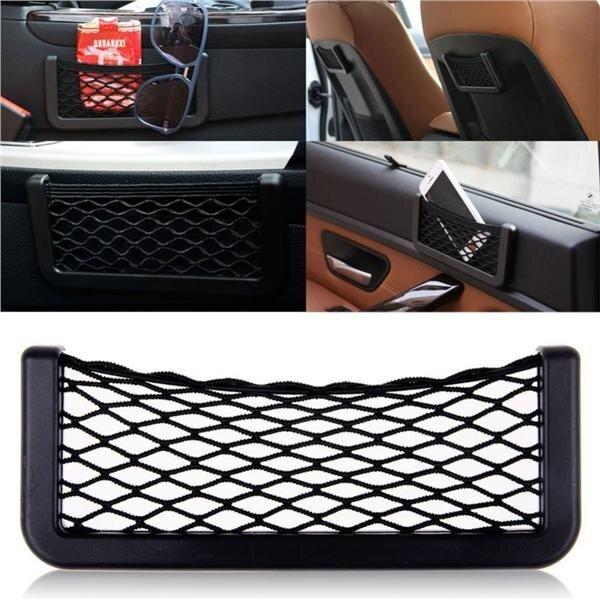 Car Door Dash Seat Storage String Bag Phone Holder Pocket Organizer
